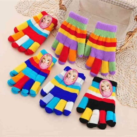 Cute Rainbow Kids Winter Warm Gloves